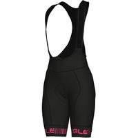 Alé Cycling Graphics PRR Strada Trägershorts Damen black-fluo pink L 2021 Rennrad Hosen
