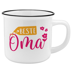Sheepworld Tasse Auswahl Sheepworld Gruss & Co - Lieblings- Kaffe- Becher Tasse in Emaille Optik Art: Beste Oma
