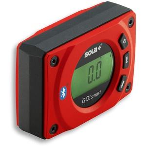 SOLA - GO! smart - Winkelmesser digital mit Bluetooth - digitale Wasserwaage mit LCD - Fernsteuerung über Smartphone und App - Neigungsmesser magnetisch mit V-Nut - bevel box magnetic - IP54 -