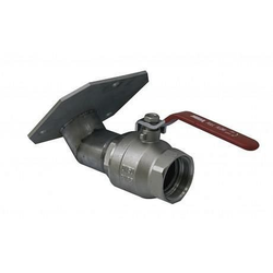 Cemo Ms-Auslaufhahn 3 mit Edelstahlflansch 45 Grad 100 mm 8180
