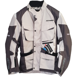 RevMoto Motorradjacke Textil grau SALE