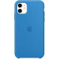Apple iPhone 11 Silikon Case surfblau