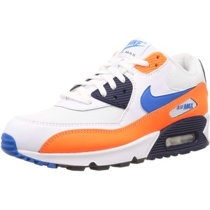 Nike Herren Air Max 90 Essential Leichtathletikschuhe, Mehrfarbig (White/Photo Blue/Total Orange 104), 40 EU