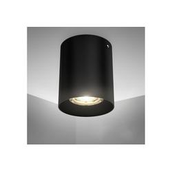 B.K.Licht Aufbauleuchte, LED Deckenspot Aufbaulampe Strahler Downlight Deckenlampe schwarz metall GU10