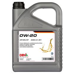 Motoröl DBV synthetisch 0W-20  5 Liter