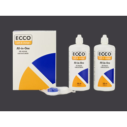 Pflegemittel Ecco All-in-One 2x 360ml1x Kontaktlinsenbehälter