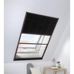 hecht international Insektenschutz-Dachfenster-Rollo, mit Plissee, BxH: 110x160 cm braun Insektenschutzfenster Insektenschutz Bauen Renovieren Insektenschutz-Dachfenster-Rollo