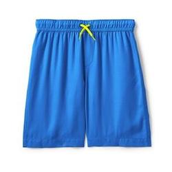 Badeshorts, Kids, Größe: 122/128 Kleiner Junge, Blau, Leinen, by Lands' End, Poolblau - 122/128 - Poolblau