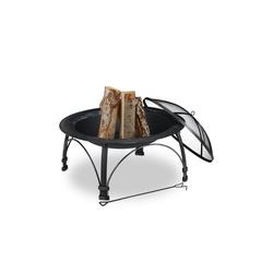 relaxdays Feuerschale Feuerschale mit Funkenschutzgitter