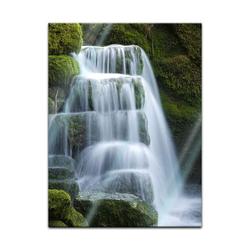 Bilderdepot24 Glasbild, Glasbild - Wasserfall 60 cm x 80 cm