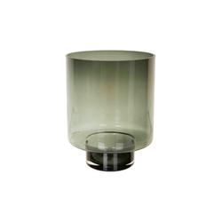 Leuchterglas ZYLINDER grau(DH 27x35 cm)