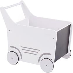 CHILDHOME Puppenwagen Holz-Puppenwagen Stroller, Holz, rosa weiß