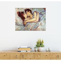 Posterlounge Wandbild, Im Bett: der Kuss 70 cm x 50 cm