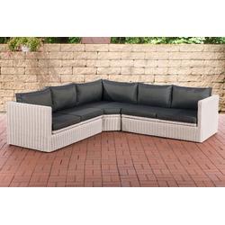 CLP Loungeset Ecksofa Tibera 5mm, Gartensofa mit 5 Sitzplätzen weiß