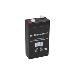Multipower Multipower Blei-Akku MP3,8-6 Pb 6V / 3,8Ah Bleiakkus