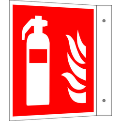 Brandschutzschild Feuerlöscher Aluminium (B x H) 150mm x 150mm ISO 7010 1St.