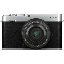 FUJIFILM X-E4 / XF27mm Kit EE, Systemkamera (Fujifilm FUJINON XF 27mm f2.8 R WR, 26,1 MP, Bluetooth, WLAN (WiFi) silberfarben