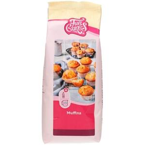 FunCakes Mix für Muffins, Backen Sie einfach köstliche Muffins, perfekte amerikanische Muffins, geeignet für die Herstellung von Blaubeermuffins oder Schokoladensplitter-Muffins, Halal., 1 kg
