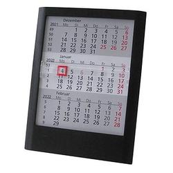 Tischkalender Einsteckkalender 2021/2022 schwarz