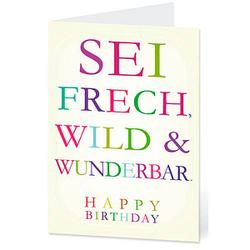 LUMA Geburtstagskarte sei frech... DIN B6