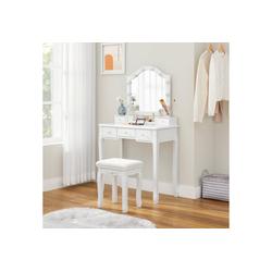 VASAGLE Schminktisch RDT170W01, Schminktisch-Set, Frisiertisch, Geschenkidee, Schlafzimmer, weiß