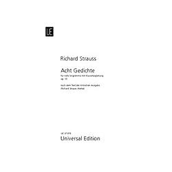 8 Gedichte  für tiefe Stimme und Klavier. Richard Strauss  - Buch