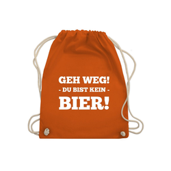 Shirtracer Turnbeutel Geh Weg! Du bist kein Bier! - Festival Turnbeutel - Turnbeutel - Jutebeutel & Taschen, turnbeutel du bist kein bier