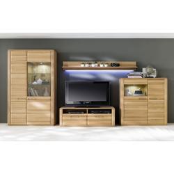MCA furniture Wohnwand Sena in Kernbuche geölt massiv
