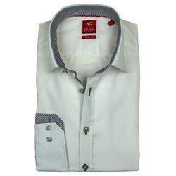 Pure Hemd PURE Hemd Slim Fit, weiß, Patch, 3564-148-900 langarm