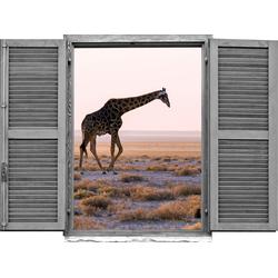 Wandtattoo »Giraffe« (1 Stück), Wandtattoos, 60488410-0 beige 80x0,1x60 cm beige