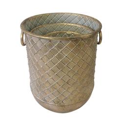 Parts4Living Übertopf Metall Übertopf Blumentopf Vase matt gold (3 Stück)