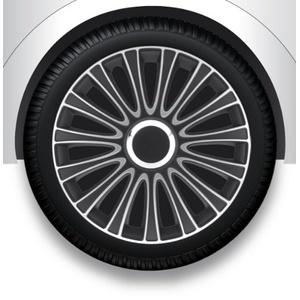 ZentimeX Z733010 Radkappen Radzierblenden universal 17 Zoll silver black
