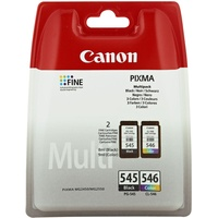 Canon PG-545 schwarz + CL-546 CMY