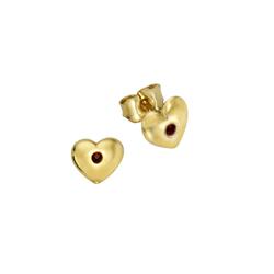 Zeeme Paar Ohrstecker 333/- Gelbgold Kristall rot, hochglanzpoliert