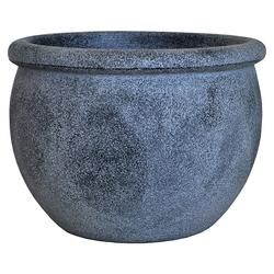Dehner Blumentopf Perugia, Bimssteinoptik, Kunststoff, grau Ø 35 cm x 27 cm