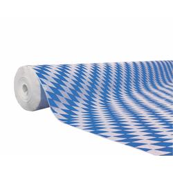 Damasttischdecke Tischtuch bayerischer Raute gerollt 1,00m x  50m, blau weiß