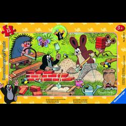 Ravensburger Rahmenpuzzle - Der Maulwurf: Maulwurf und Freunde, 15 Teile