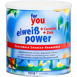 FOR YOU eiweiß power Erdbeere 750 g