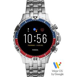 Fossil Smartwatches Garrett HR Smartwatch, FTW4040 Smartwatch (1.28 Zoll, Wear OS by Google, mit individuell einstellbarem Zifferblatt)