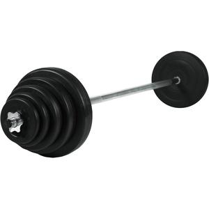 Christopeit Sport® Hantel-Set Langhantel Gewichtsset 42 kg, 42 kg, (Set, 13-tlg., mit Langhantelstange)