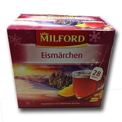 Milford Eismärchen winterlicher Früchtetee mit Apfel Zimt Aroma 70g