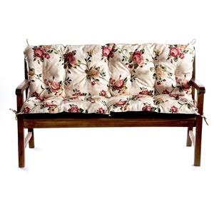 Bankauflage Für Hollywoodschaukel Bankkissen Set Sitzkissen Rückenlehne L  (Deko Kissen  40x40, Blumen)