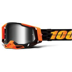 100% Racecraft II Costume 2 Motocross Goggles, black-orange, Größe One Size