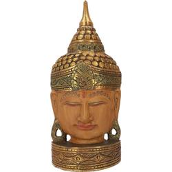 Guru-Shop Buddhafigur Stehende Buddha Maske, Thai Buddha Statue -.. 21 cm x 48 cm x 8 cm