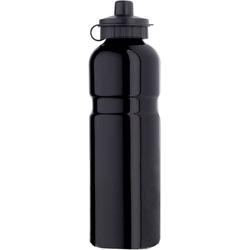 Aluminium mit Trinkventil-Schutzkappe Trinkflasche Schwarz