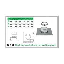 019/DN130 DW6 Flachdachabdeckung mit Wetterkragen