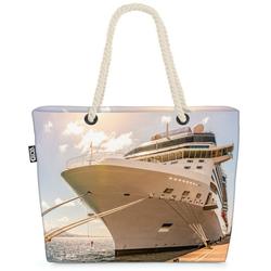 VOID Strandtasche (1-tlg), Kreuzfahrtschiff Hafen Beach Bag Schiff Kreuzfahrt Kreuzfahrtreise Reise Boot
