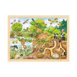 goki Puzzle Einlegepuzzle Erlebnis Natur, Puzzleteile