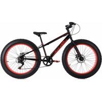 KS-CYCLING SNW2458 24 Zoll RH 33 cm schwarz/rot