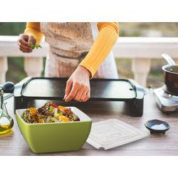 APS Schüssel, Melamin, mit Hart-Deckel, Campinggeschirr, Geschirr für Wohnmobil, Picknickgeschirr Outdoor grün